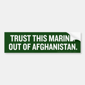 Out of Afghanistan Bumper Sticker Car Bumper Sticker
