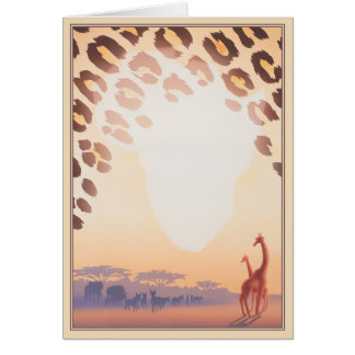 Out Of Africa © Greeting Card