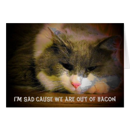 Out of bacon and I miss You Card
