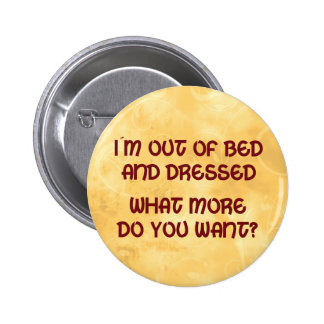 Out of Bed Pinback Button