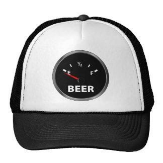 Out of Beer Fuel Gauge Trucker Hats