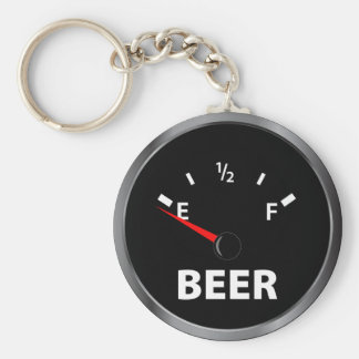 Out of Beer Fuel Gauge Keychain