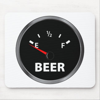 Out of Beer Fuel Gauge Mouse Pad