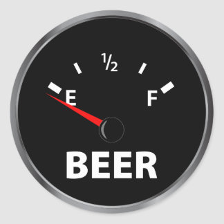 Out of Beer Fuel Gauge Stickers