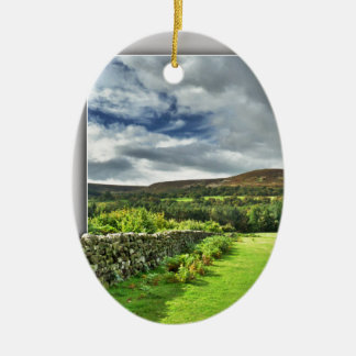 Out of bounds Yorkshire wall Ceramic Ornament