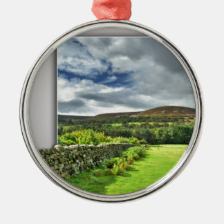 Out of bounds Yorkshire wall Metal Ornament