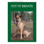 OUT OF BREATH=40th BIRTHDAY HUMOR Card