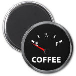 Out of Coffee Fuel Gauge 2 Inch Round Magnet