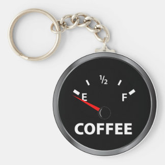 Out of Coffee Fuel Gauge Basic Round Button Keychain