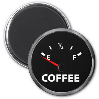 Out of Coffee Fuel Gauge Magnet