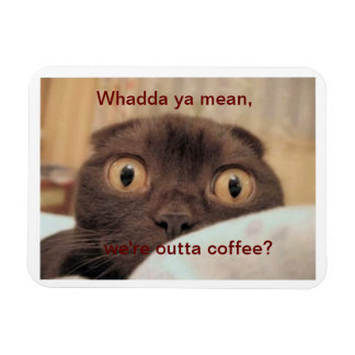 Out of Coffee, Funny Rectangular Photo Magnet