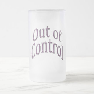 Out of Control arc plum Frosted Glass Beer Mug