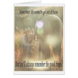 Out of Focus: Cowgirl and Buckskin Card