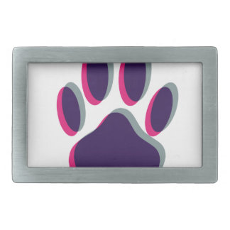 Out of Focus Dog Paw Print Belt Buckle