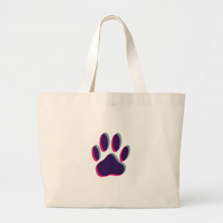 Out of Focus Dog Paw Print Large Tote Bag