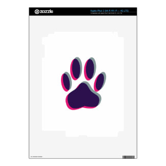 Out of Focus Dog Paw Print Skin For iPad 3
