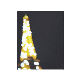 Out of focus Eiffel Tower Canvas Print