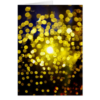 Out of focus lights card