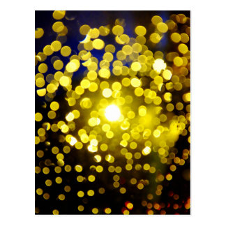 Out of focus lights postcard