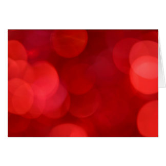Out of Focus Red Lights Circles Card