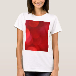 Out of Focus Red Lights Circles T-Shirt