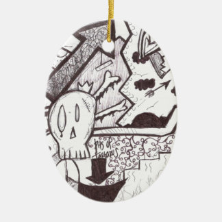Out of Hell Ceramic Ornament