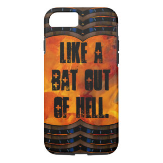 Out of Hell Flames Goth Heavy Metal CricketDiane iPhone 7 Case