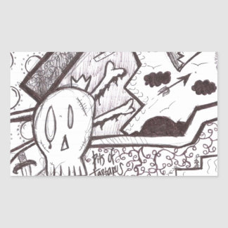 Out of Hell Rectangular Stickers