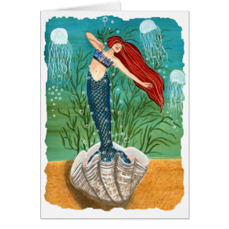 Out Of Her Shell Blank Greeting Card