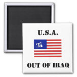 OUT OF IRAQ Square Button Refrigerator Magnet