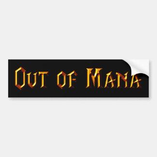 Out Of Mana Bumper Sticker