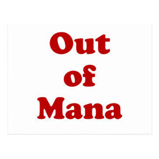 Out of Mana Postcard