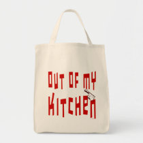 Out of My Kitchen Funny Cook Slogan Tote Bag bags