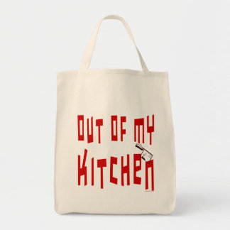 Out of My Kitchen Funny Cook Slogan Tote Bag