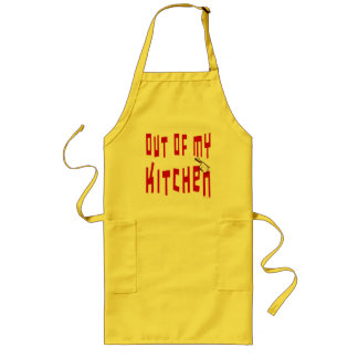 Out of My Kitchen Funny Cooking Saying Apron