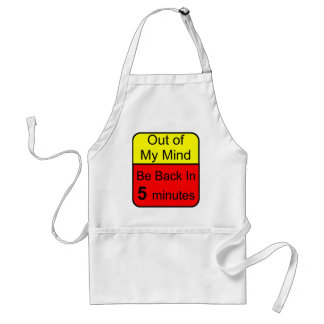 Out of My Mind Adult Apron