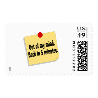Out Of My Mind Back In 5 Minutes Postage Stamps