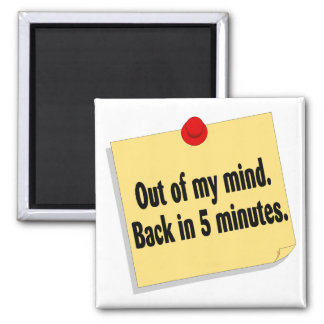 Out Of My Mind Back In Five Minutes Magnet