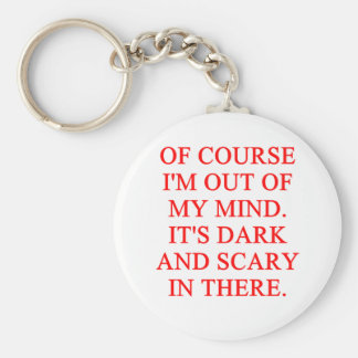 out of my mind basic round button keychain