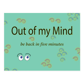 Out of my Mind Graphic Postcard