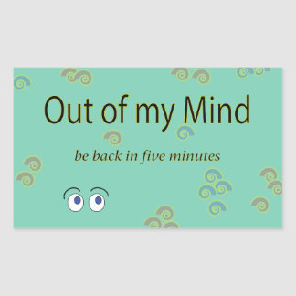 Out of my Mind Graphic Stickers