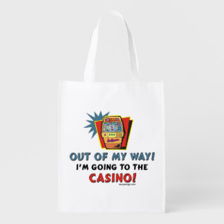 Out of My Way Casino Reusable Grocery Bag