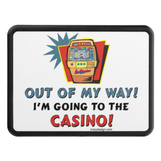Out of My Way Casino Trailer Hitch Cover