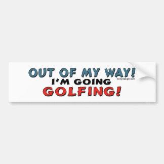 Out Of My Way Golfing Bumpersticker Car Bumper Sticker