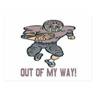 Out Of My Way Postcard