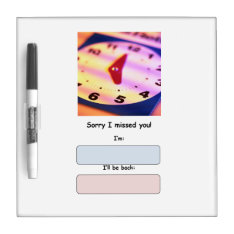 Out of Office Dry Erase Message Board at Zazzle