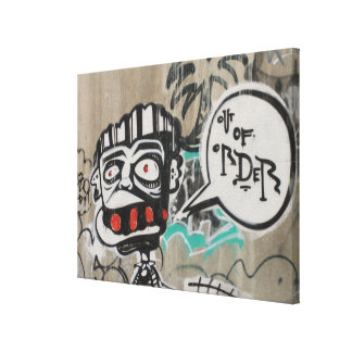 Out Of Order Graffiti Canvas Print