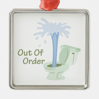 Out Of Order Metal Ornament