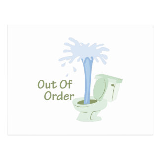 Out Of Order Postcard