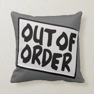 Out Of Order Reversible Pillow
